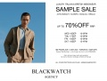 Sept 16 to 19 - Blackwatch Agency Fashion Sample Sale